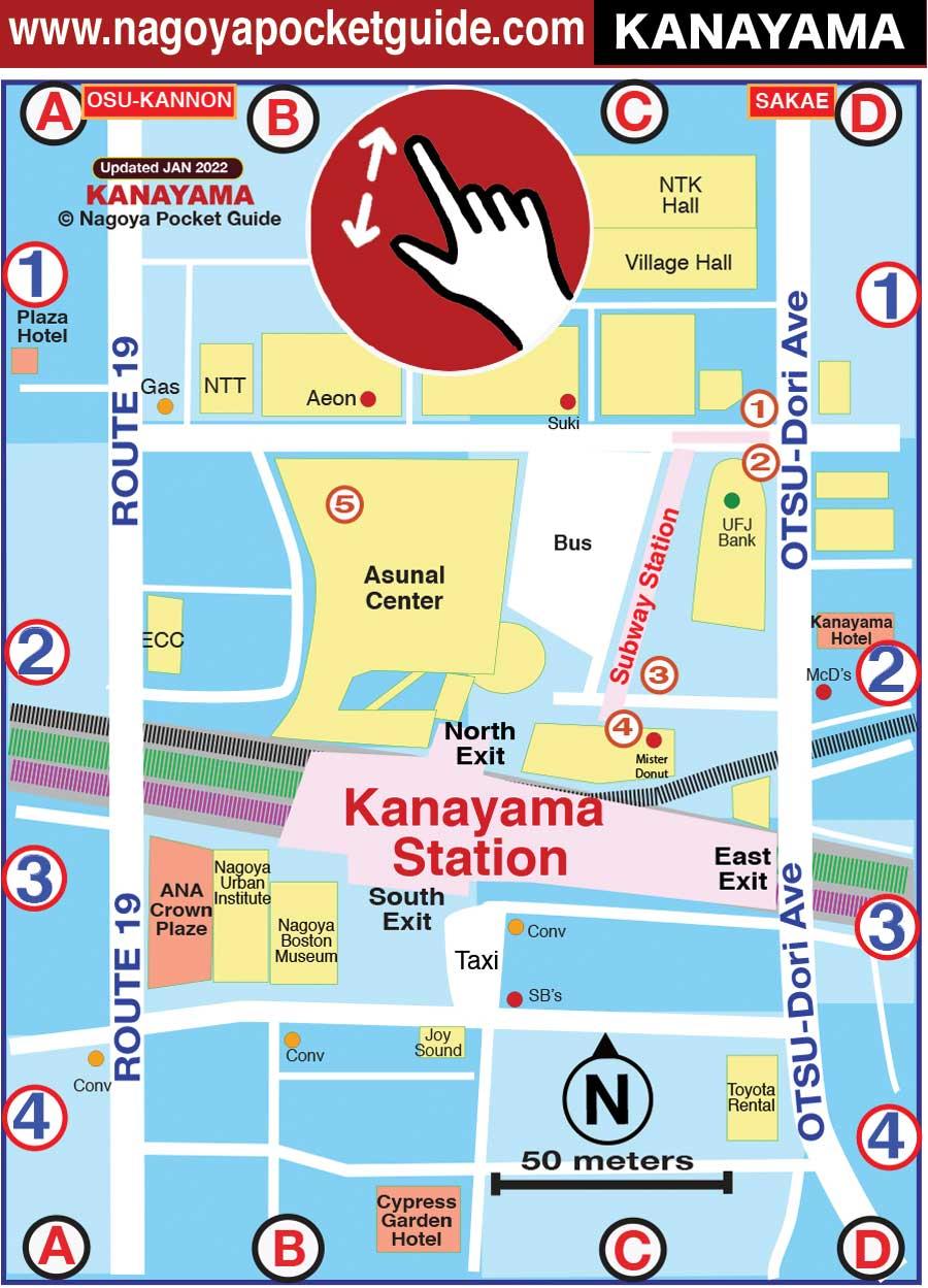 Nagoya Subway Map Pdf.Kanayama Nagoya Japan Map In English Nagoya Pocket Guide